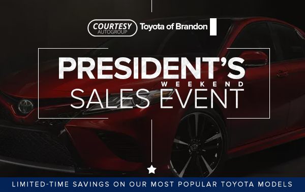 Courtesy Toyota Presidents day specials tampa fl